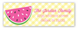 Watermelon Picnic Address Label