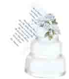 Wedding Cake With Roses Invitation
