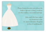 Wedding Dress Form Enclosure Card