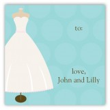 Wedding Dress Form Square Sticker
