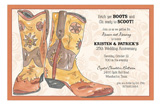 Western Boots Invitation