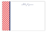 Western Gingham Flat Note Card
