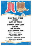 Western Wear BBQ Invitations