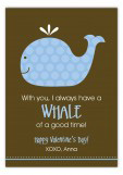 Whale of a Good Time Valentine Card