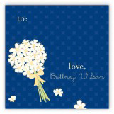 White Bouquet Gift Tag