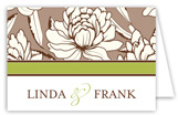 White Magnolia Folded Note Card