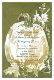 White Pumpkin Invitation