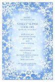 White Snow Invitation