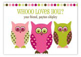 Whooo Loves You Valentine Card