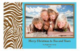 Wild Blue Holiday Photo Card