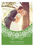 Winter Wonderland Green Photo Card