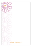 Wire Flower Monogram Flat Note Card