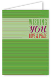 Wishing You Love & Peace Greeting Card