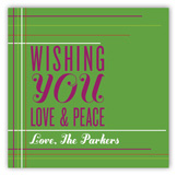 Wishing You Love & Peace Square Sticker