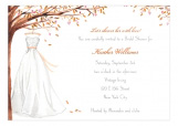 Wonderful Wedding Dress Fall Invitation