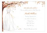 Wonderful Wedding Dress Fall Invitation