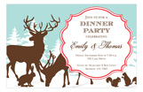 Woodland Holiday Invitation