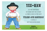 Yee-haw Peter Invitation