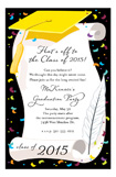 Yellow Cap and Diploma Invitation