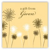 Yellow Flowers Gift Tag