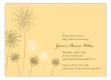 Yellow Flowers Invitation