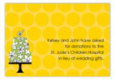 Yellow Flying Floral Enclosure Card