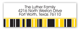 Yellow Graduation Year Address Label