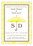 Yellow Pinstripe Umbrella Invitation