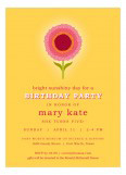 Yellow Sunny Flower Invitation