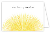 You Are My Sunshine Folded Valentine Card