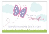 You Give Me Butterflies Valentine Card