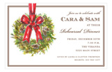 Yuletide Wreath Invitation