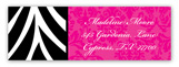 Zebra and Damask Grad Address Label