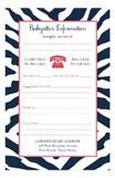Zebra Babysitter Notepad