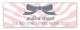 Zebra Cutie Onesie Address Label
