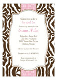 Zebra Pink Invitation