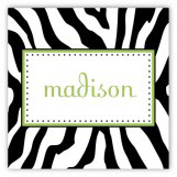 Zebra Stripes Square Sticker