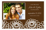 Zinnia Garden Brown Photo Card