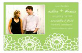 Zinnia Garden Green Photo Card
