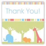 Zoo Party Trip Square Sticker