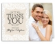 Linen Lace Wedding Suite Thank You Note