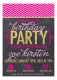 Chevron Glitter Chalkboard Party Invitations