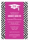 Pink Graphic Graduate Invitation