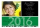 Green Graduation Year Photo Card
