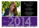 Purple Graduation Year Photo Card