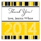 Yellow Graduation Year Square Sticker