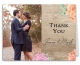 Wood Floral Wedding Suite Thank You Note