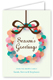 Abstract Wreath Greeting Card