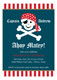 Arrr Matey Kids Pirate Party Invitations