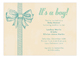 Baby Boy Bow Invitation